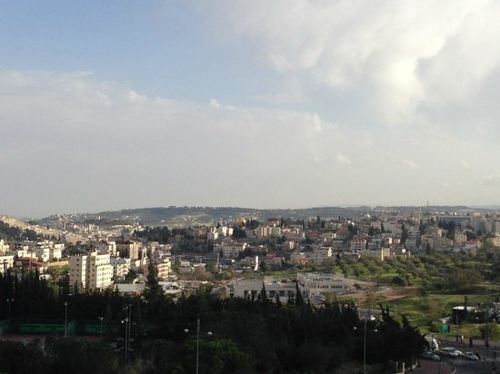Dan Jerusalem Hotel : View from our terrace of the city - note the Dome of the Rock
