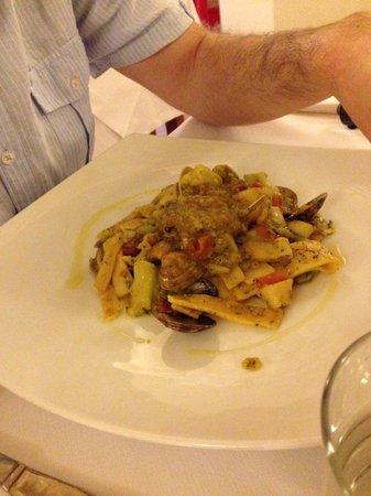 Ristorante Dammuso: Pasta with broccoli and clams