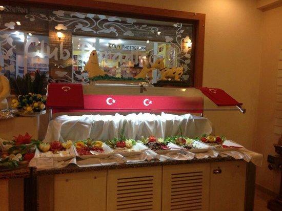 Club Paradiso Resort : Heerlikk eten
