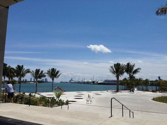 Perez Art Museum Miami: A beautiful view of the ship channel with cruise ships.