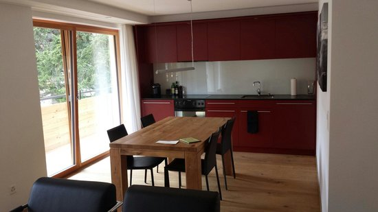 Elite Alpine Lodge: Salon de l appartement avec coin cuisine