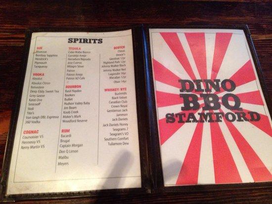 Dinosaur Bar-B-Cue: Drink menu