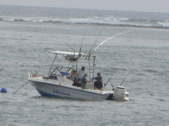 Nosara Playa Garza Hotel: It's a fishing village so a charter fishing boat