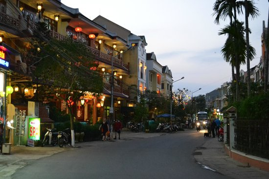 Vinh Hung Library Hotel: Hotel on the left