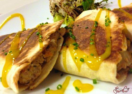Gastromaquia : Fajitas de carne con verduras con vinagreta de mango