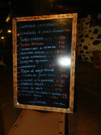 Casa Marcos: ...menu
