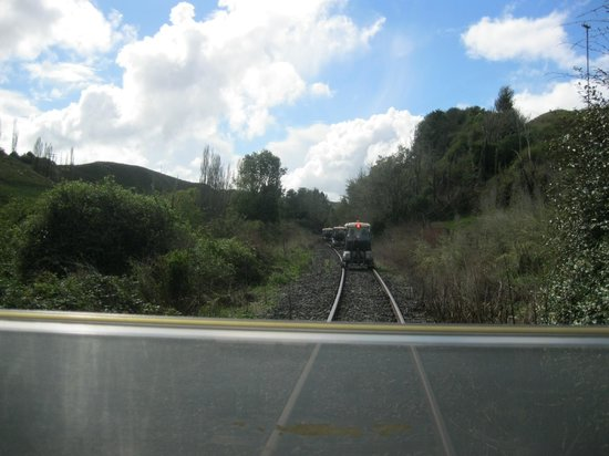 Forgotten World Adventures: view from the rail cart
