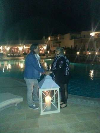 Saint Andrea Seaside Resort: A romantic night by the pool