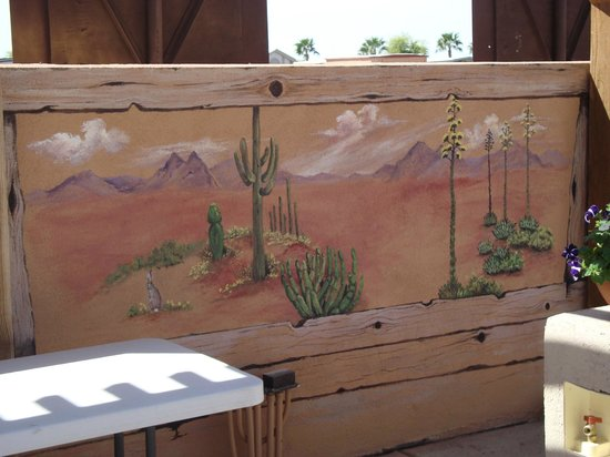 Westwind RV & Golf Resort: The resort commissioned a very talented muralist who's work appears all around the park