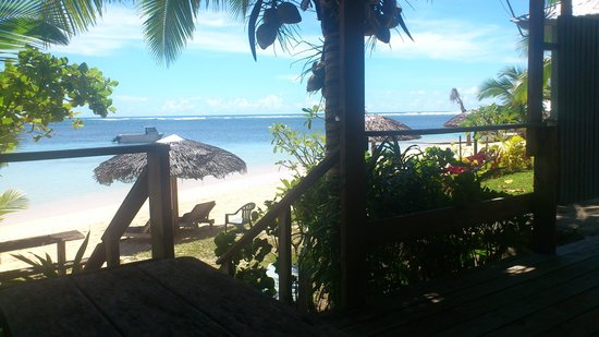 Savaii Lagoon Resort : Just outside the door.