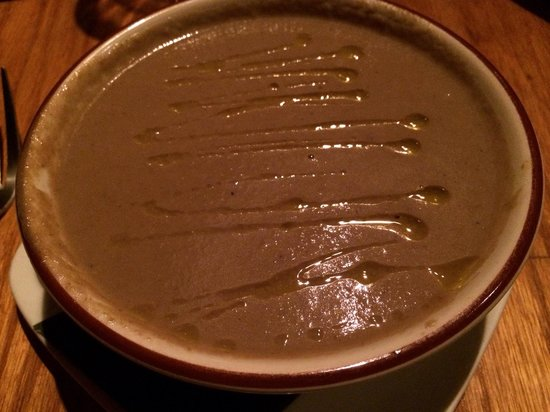 Tapas on Main: Mushroom soup with truffle oil