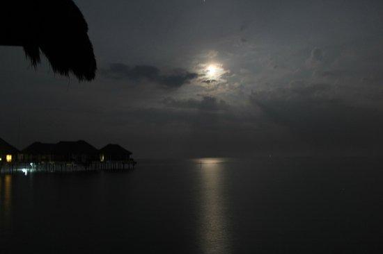 AVANI Sepang Goldcoast Resort: Full moon setting early one morning