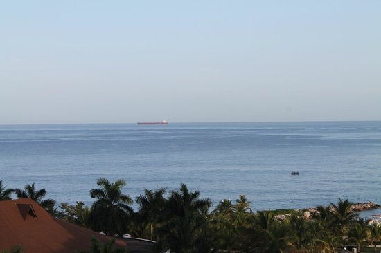 Grand Bahia Principe Jamaica: Watching the cargo ship go by in the distance