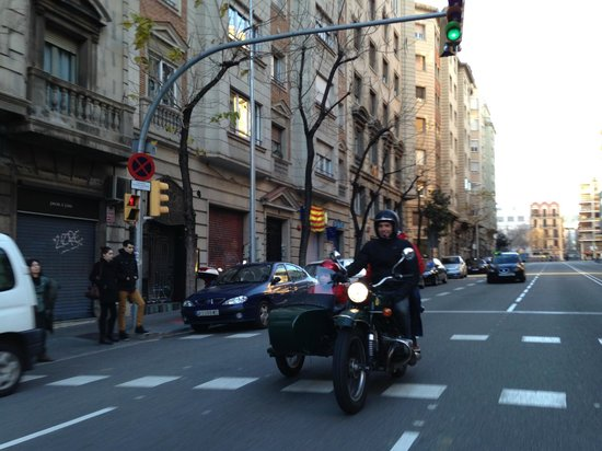 BrightSide: Joao with my two younger sons (14 &16) riding through the streets of Barcelona