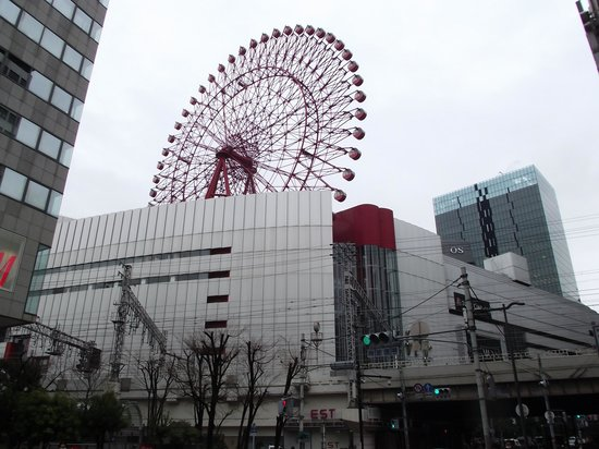 Hep Five Ferris Wheel : 北側からの眺め
