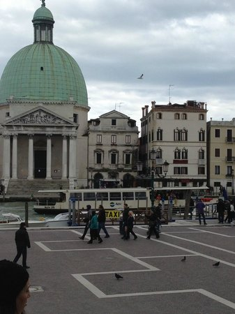 Hotel Antiche Figure: Looking directly across the Grand Canal from the train station, hotel is one away from church