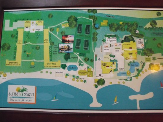 map of hotel grounds Picture of Sunscape Splash Montego Bay
