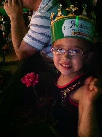 Medieval Times: The Green Knight tossed Lily a flower!