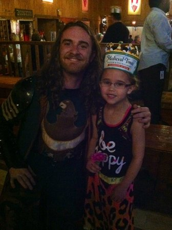 Medieval Times: Lily and her favorite Green Knight