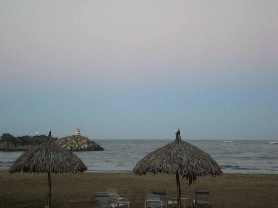 Playa Grande Caribe Hotel & Marina : Vista de la playa privada