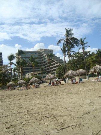 Playa Grande Caribe Hotel & Marina: Vista desde la playa al hotel