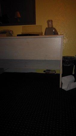 Rodeway Inn: bottle left under furniture