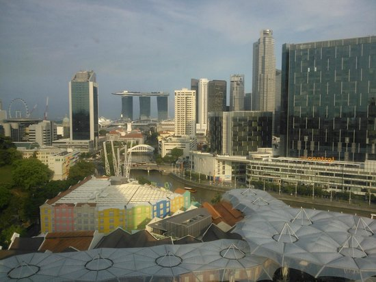 Novotel Singapore Clarke Quay: View from our window.