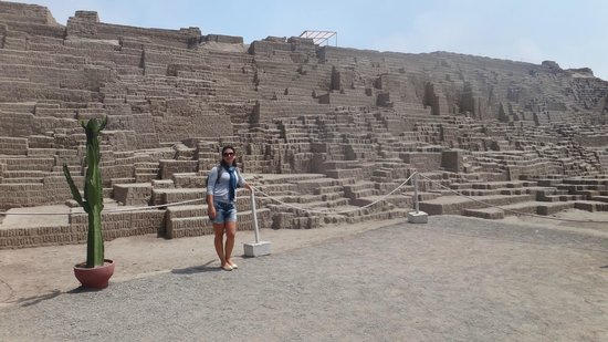 Huaca Pucllana: Parte inicial da visita