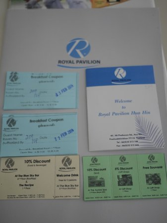 Royal Pavilion Hua Hin : Free Welcome Drinks + Breakfast Voucher