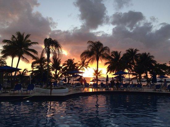 St. James's Club Morgan Bay : St Lucian sunset