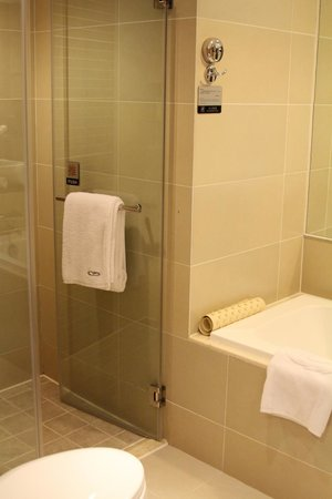 Grand Noble Hotel: Shower and tub