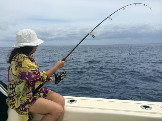 Captain Woody's: Fishing is a nice way to wind down at the end of the day.