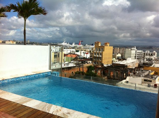 La Terraza de San Juan : Plunge pool and view