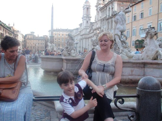 My family on the Piazza Navona