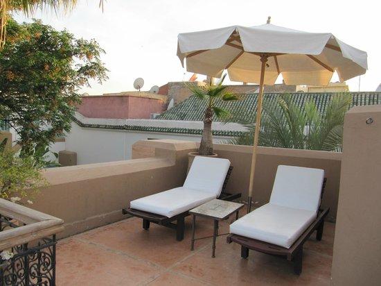 Les Jardins de la Medina : Private Dachterrasse