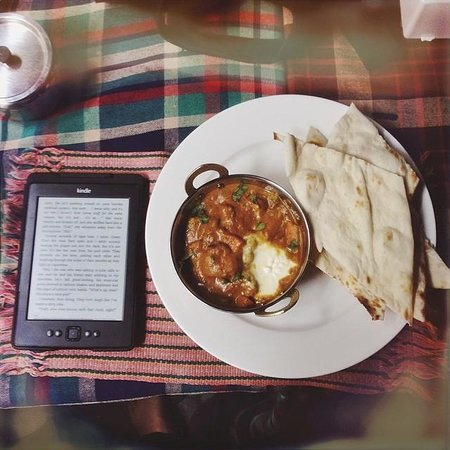Tea Time Bamboostan Cafe: Indian curry & Naan - delish!