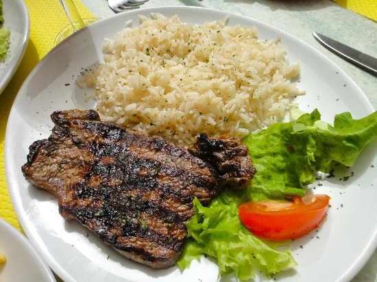 Cafe des Brancardiers : Steak with Rice