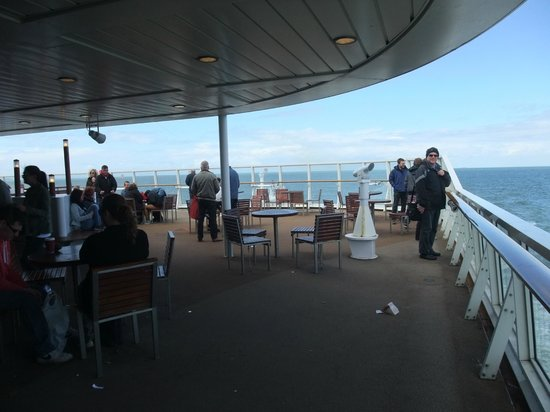 P&O Ferries - Day Trips : Out on desck - at the rear