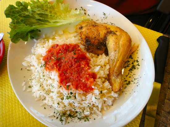 Cafe des Brancardiers : Chicken with Rice