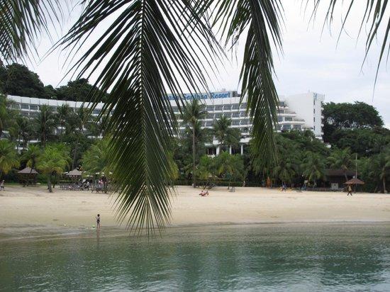 Shangri-La's Rasa Sentosa Resort & Spa: The hotel from the beach
