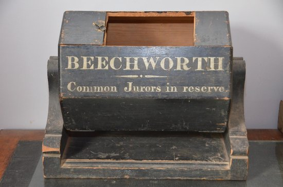 Beechworth Historic Courthouse: Jury ballot box