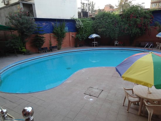 Hotel Vaishali : the swimming pool from our bedroom