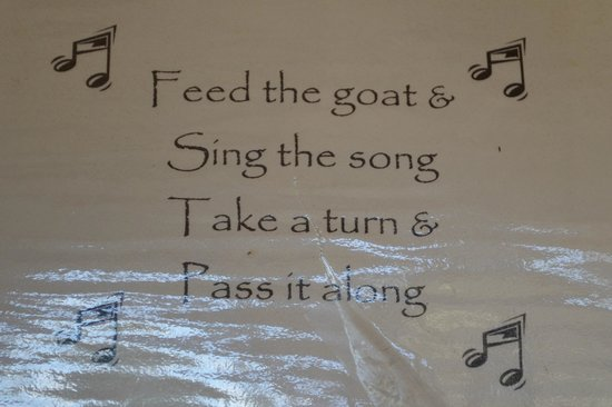 Tiger Lily Farm : Sung during goat feedings and the end each time says pass it on to the next person