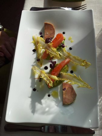 Lou Fassum ''La Tourmaline'': Saumon foie gras