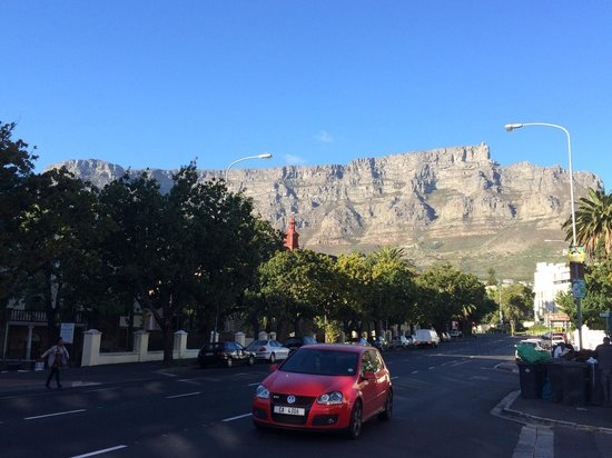 African Pride 15 On Orange Hotel: Step aside of the hotel, you'll get a stunning close up view of the Table Mountain.