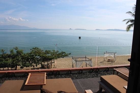 Hansar Samui Resort: view from upstairs chill lounge / breakfast area