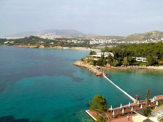 The Westin Athens Astir Palace Beach Resort: Room with a view (looking right)