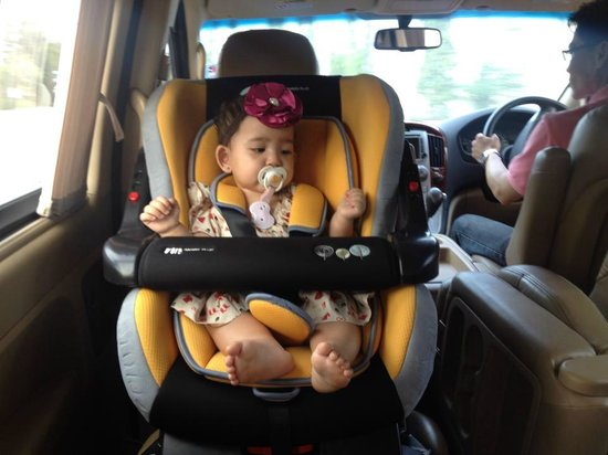 Marrakesh Hua Hin Resort & Spa: They resort provided a carseat for Sky Madison!