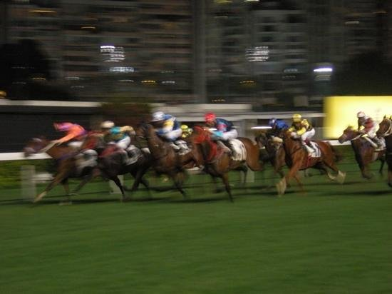 Happy Valley Racecourse: the winning post