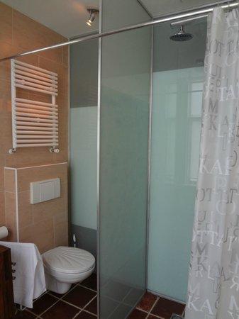 B&B Marnix: Shower in the bathroom
